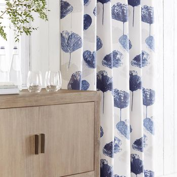 Juniper Blue Floral Curtain
