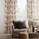 Delma Beige Foliage Curtain