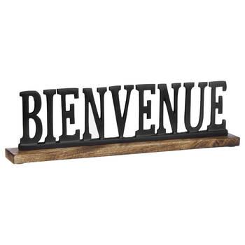 Decorative Metal Word Bienvenue
