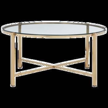 Glass and Metal Coffee Table