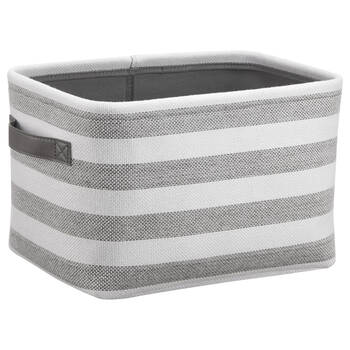 Striped Storage Basket With Handles