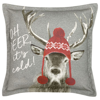 "Oh Deer Decorative Pillow 20"" X 20"""