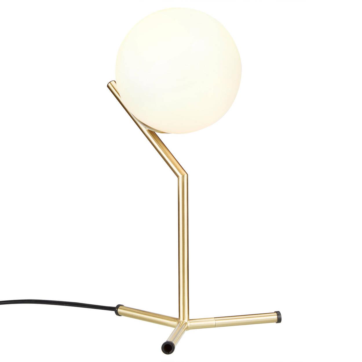 Lampe de table en métal et en verre