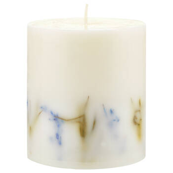 Floral Pillar Candle