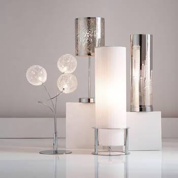 Lampe de table avec découpe de ville