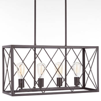Geometric Metal Wire Ceiling Lamp