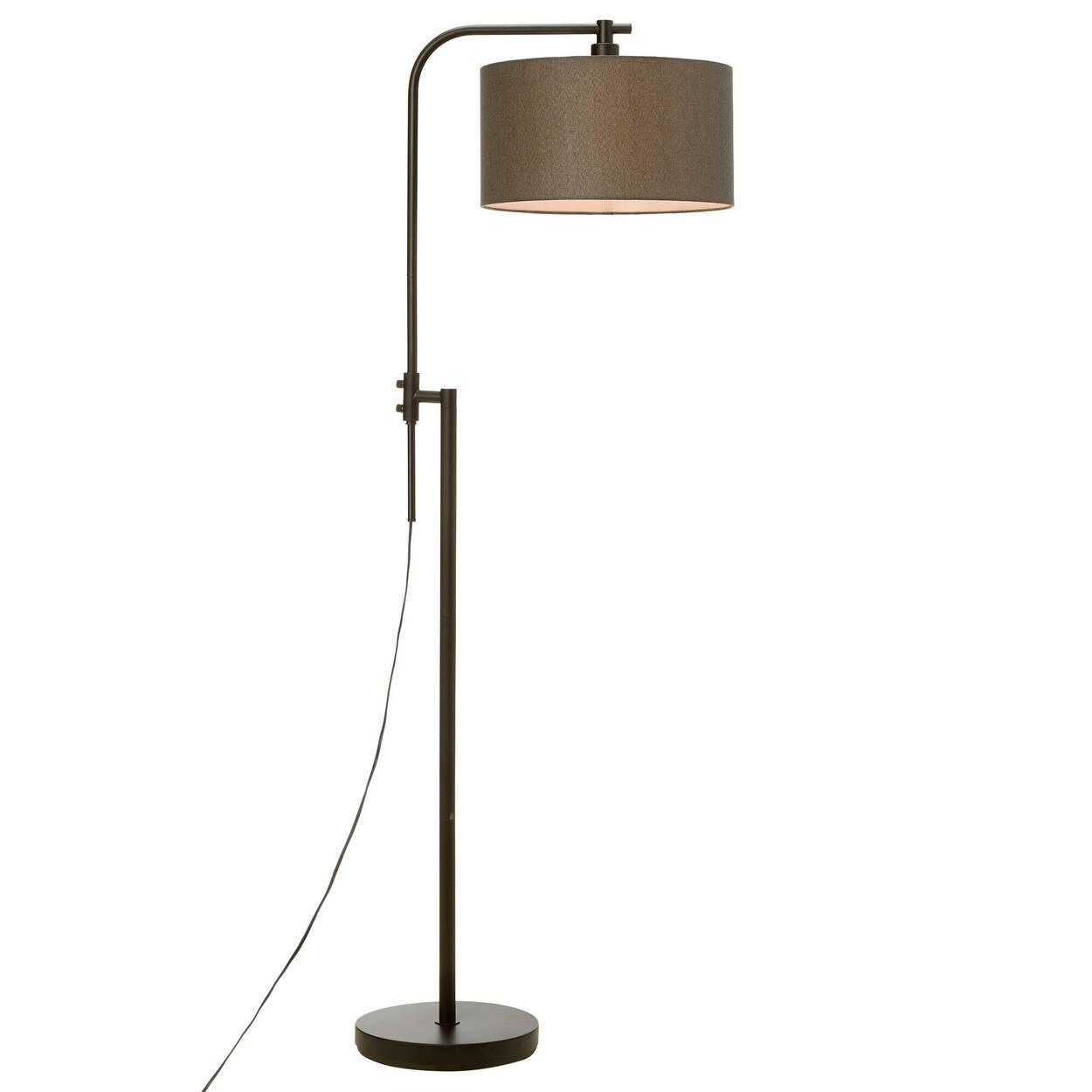 Lampe sur pied pivotante en métal