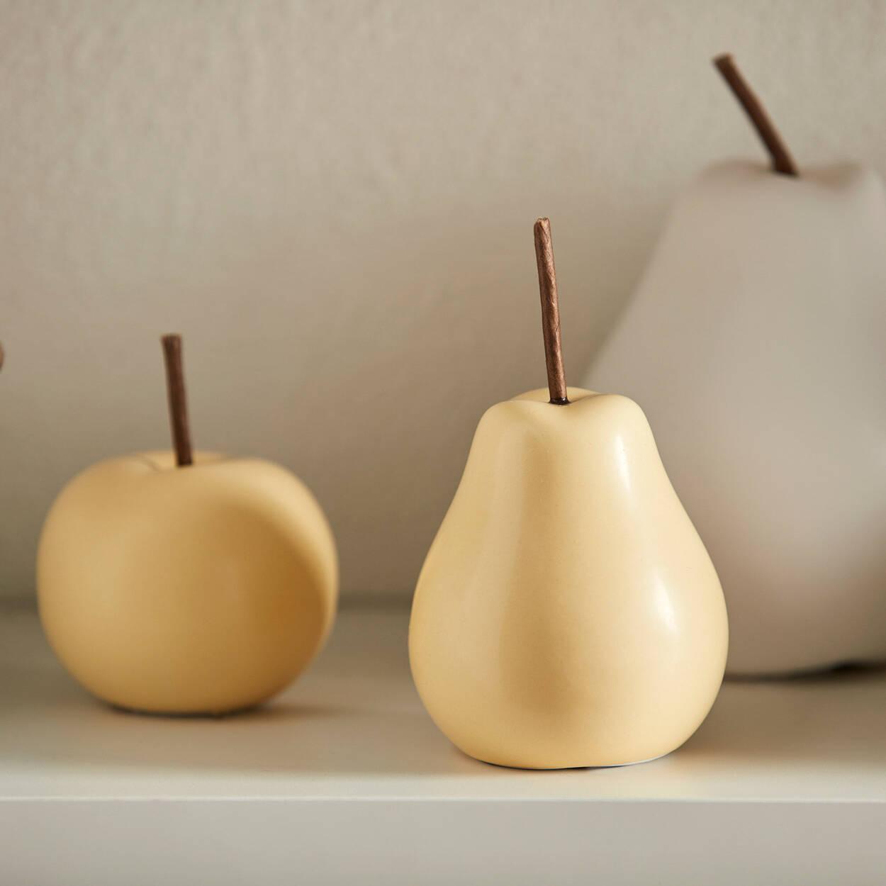Pomme en céramique jaune