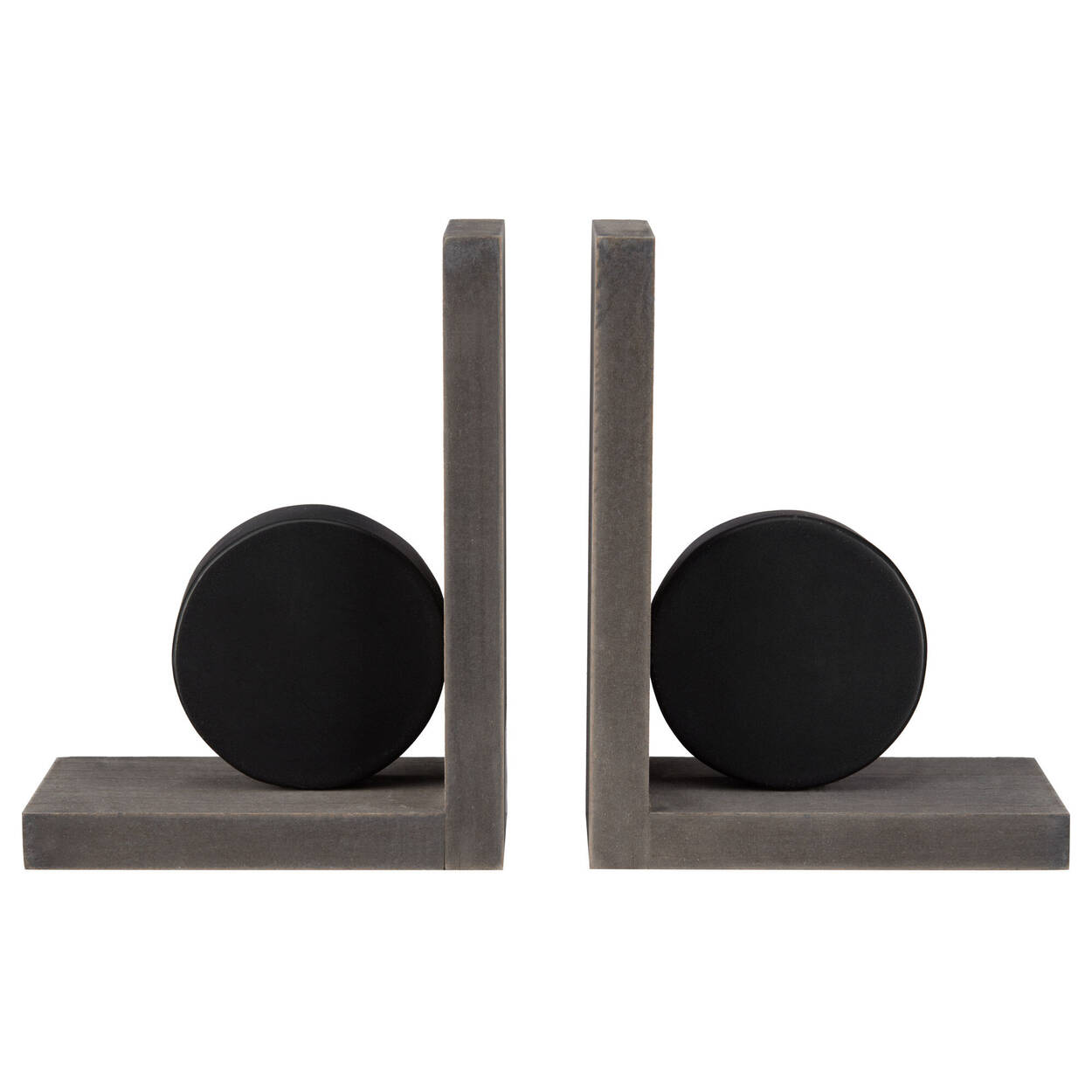 Hockey Puck Bookends