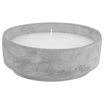 Three-Wick Cement Candle
