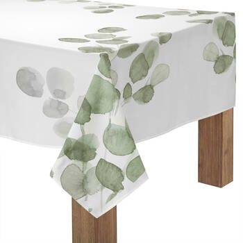 "Eucalyptus Print Tablecloth 60"" X 84"""