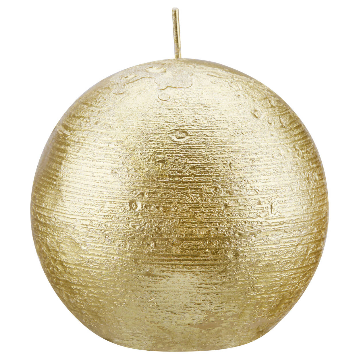 Round Candle with Metallic Finish