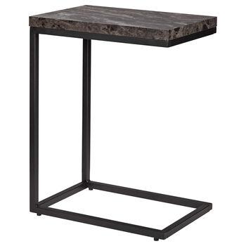 Table d'appoint à effet marbre