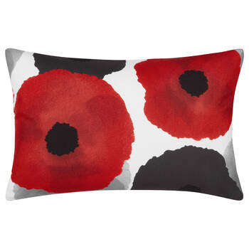 "Poppy Water-Repellent Decorative Lumbar Pillow 13"" X 20"""