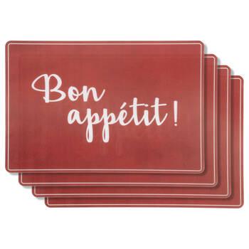 Set of 4 Bon Appétit Placemats