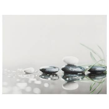 Zen Rocks Printed Canvas