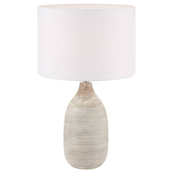 Striped Ceramic Table Lamp