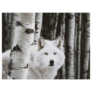 White Wolf Printed Canvas