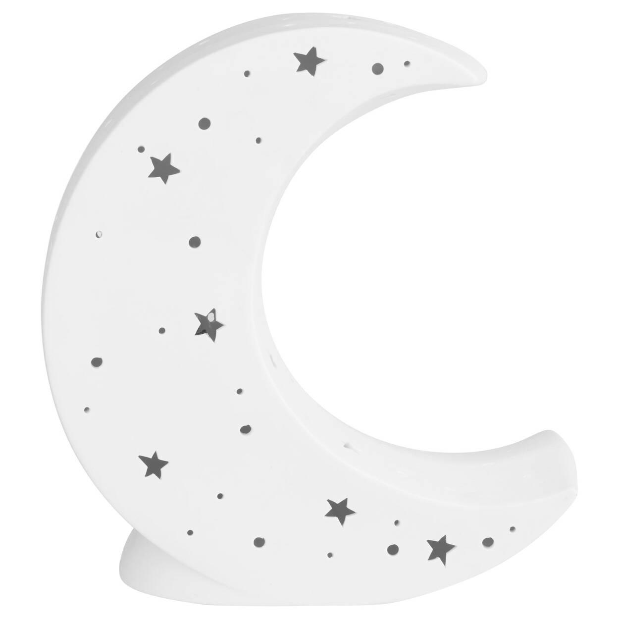 Cut-Out Ceramic Moon Night Light
