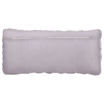 "Mathilda Braided Jersey Decorative Lumbar Pillow 11"" X 18"""
