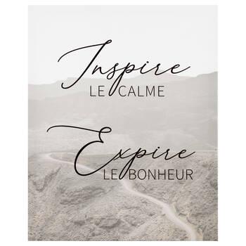 Inspire Expire Printed Canvas