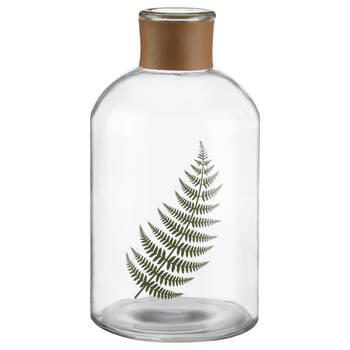 Feuille dans bouteille en verre