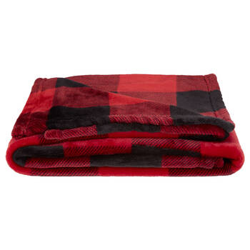 "Buffalo Plaid Fleece Throw 50"" X 60"""