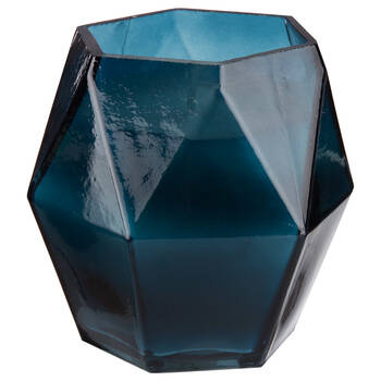 Candle in Geometric Glass Container