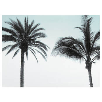 Two Palm Trees Printed Canvas