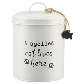 Pot pour chat en métal