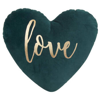"Love Heart Shaped Decorative Pillow 15"" x 17"""