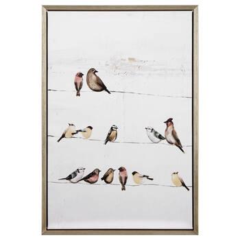 Birched Birds Printed Framed Art