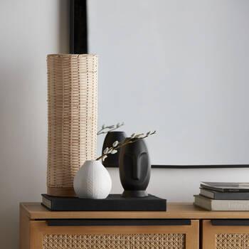 Lampe de table en rotin naturel