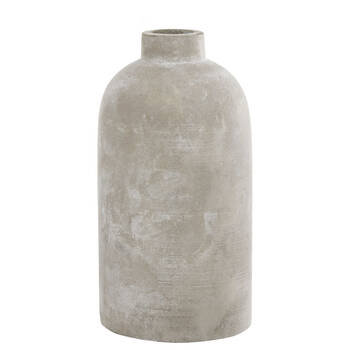Cement Bottle Table Vase