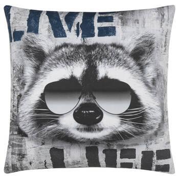 "Racoon Decorative Pillow 18"" X 18"""