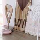 Wooden Heart on Stand