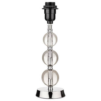 Pied de lampe en métal et en verre
