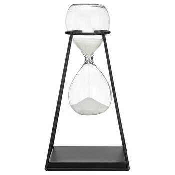 Decorative Metal & Glass Hourglass