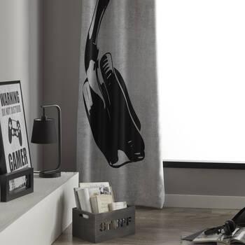 Headphone Set of 2 Panel Curtains
