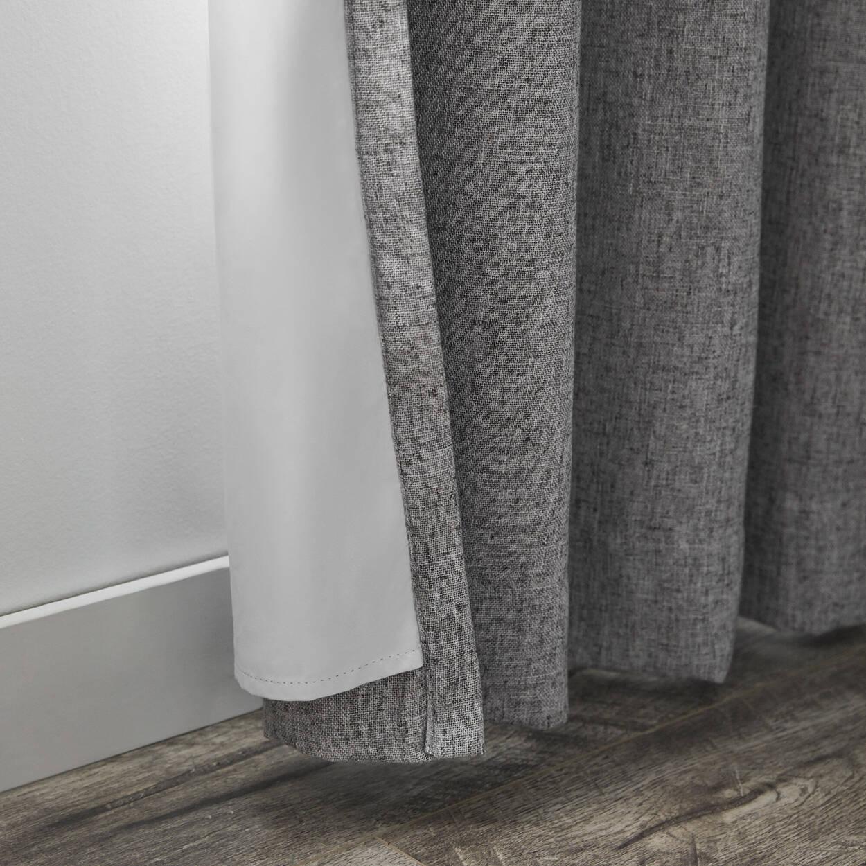Bryce Grey Blackout Curtain