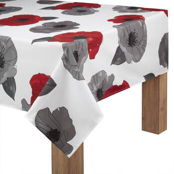 "Floral Print Tablecloth 60"" X 84"""