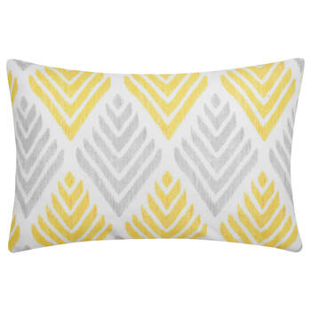 "Three-Toned Water-Repellent Decorative Lumbar Pillow 13"" X 20"""
