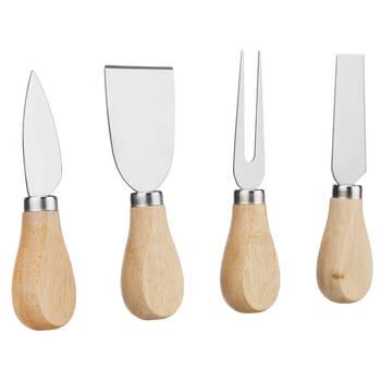 Ensemble de 4 couteaux à fromage avec manche en bois