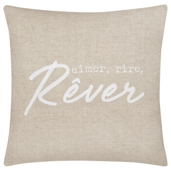 "Rêver Decorative Linen Pillow 20"" X 20"""