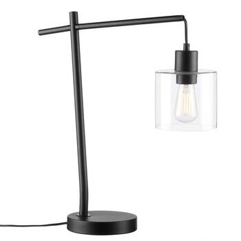 Industrial Metal and Glass Table Lamp