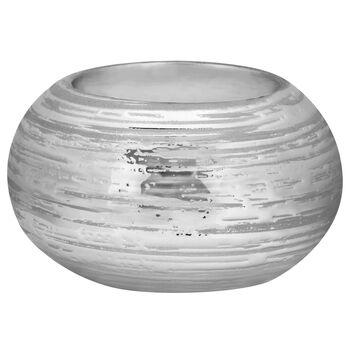 Scratched Ceramic Tea Light Holder