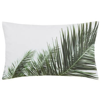 "Tropical Leaves Lumbar Decorative Pillow 13"" x 20"""