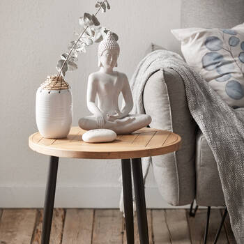 Metal and Wood Side Table