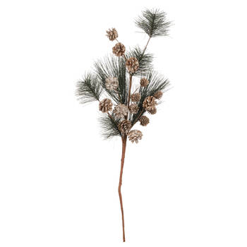 Decorative Pine Branch with Cones