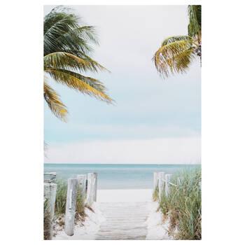 Tableau imprimé palmiers tropicaux